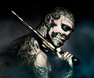 tattoo, gun, and zombie boy image