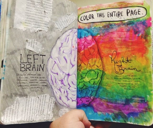 art, brain, and colorful image