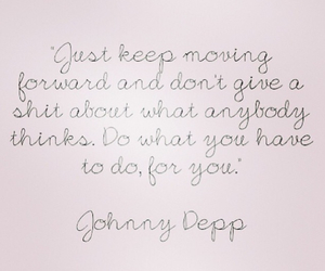 quote, johnny depp, and life image