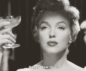 Marilyn Monroe, happy new year, and happy image