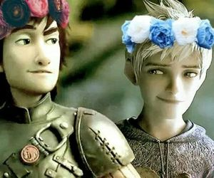 animation, dreamworks, and flower crown image