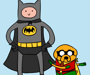 batman, JAKe, and finn image