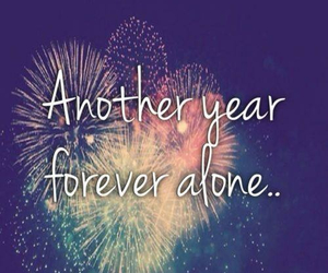 alone, fireworks, and year image