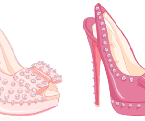 pink, heels, and louboutins image