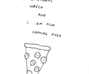 pizza, quote, and sad image