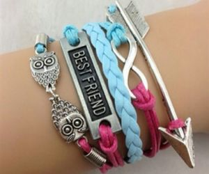 bracelet, best friends, and fashion image