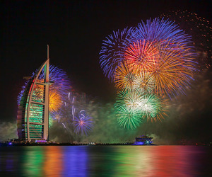 Dubai and fireworks image