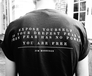 quote, fear, and Jim Morrison image