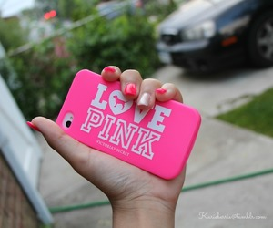 pink, iphone, and love image