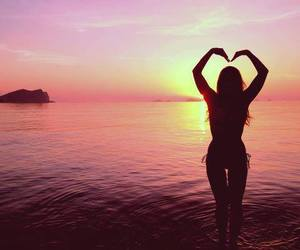 girl, summer, and love image