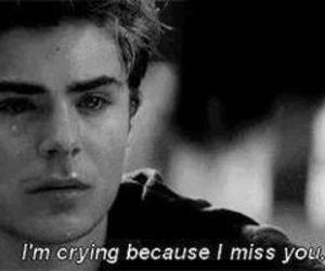 zac efron, cry, and sad image