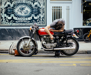 bike and man image