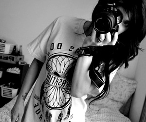 girl, tattoo, and camera image
