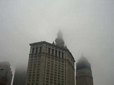 building and fog image