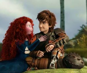 hiccup, merida, and how to train your dragon image
