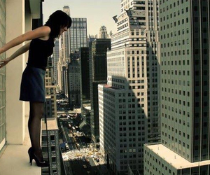 girl, city, and suicide image