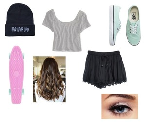 beanie, mint, and outfit image