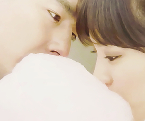 candy, cotton, and kiss image