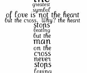 love, cross, and god image