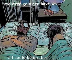 bed, sex, and spiderman image