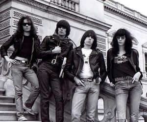 black and white, photography, and the ramones image