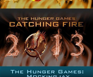 mockingjay, the hunger games, and catching fire image
