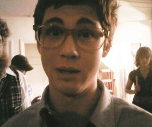 logan lerman, glasses, and logan image