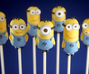 minions, cake, and cake pops image