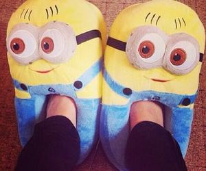 minion, slippers, and yellow image