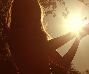 girl, sun, and photography image