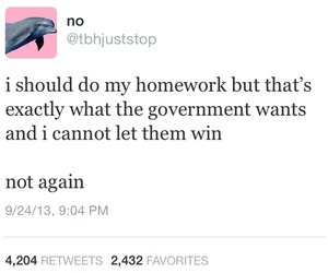homework, funny, and government image