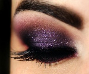 make up, purple, and makeup image
