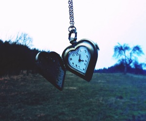 beauty, clock, and heart image