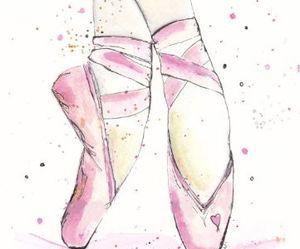 art, pink, and ballerina image
