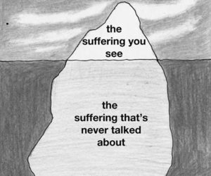 suffering, quotes, and sad image