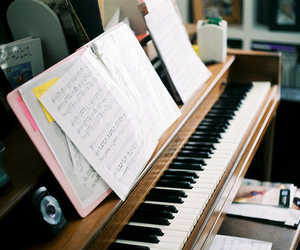 music, piano, and indie image