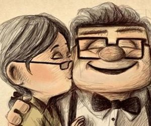 love, up, and kiss image