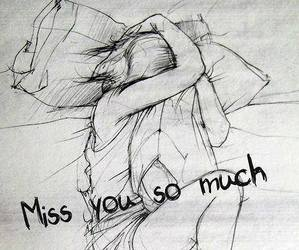 sad, miss you, and miss image