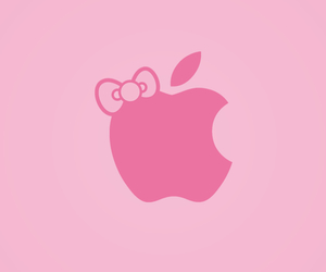 apple, hello kitty, and bow image