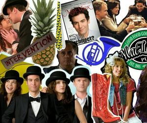 Barney Stinson, lily aldrin, and Collage image