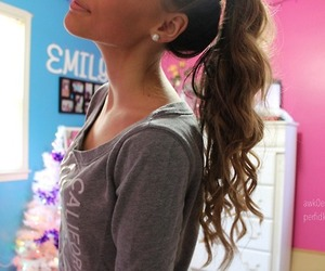hair, pretty, and curly image