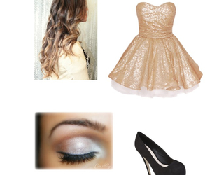 chaussure, coiffure, and makeup image