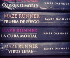 books, maze, and runner image