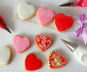 Cookies, food, and Valentine's Day image