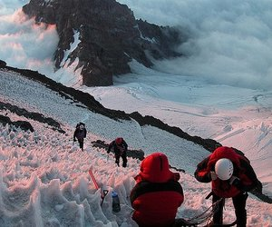climb, clouds, and snow image