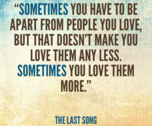 quote, love, and the last song image