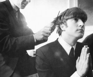george, john, and the beatles image