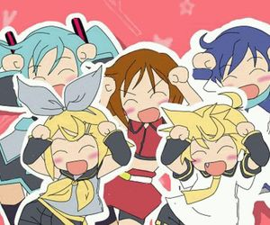 chibi, dancing, and vocaloid image