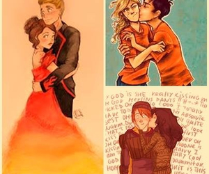 percy jackson, percabeth, and hunger games image
