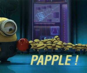 apple, funny, and minions image